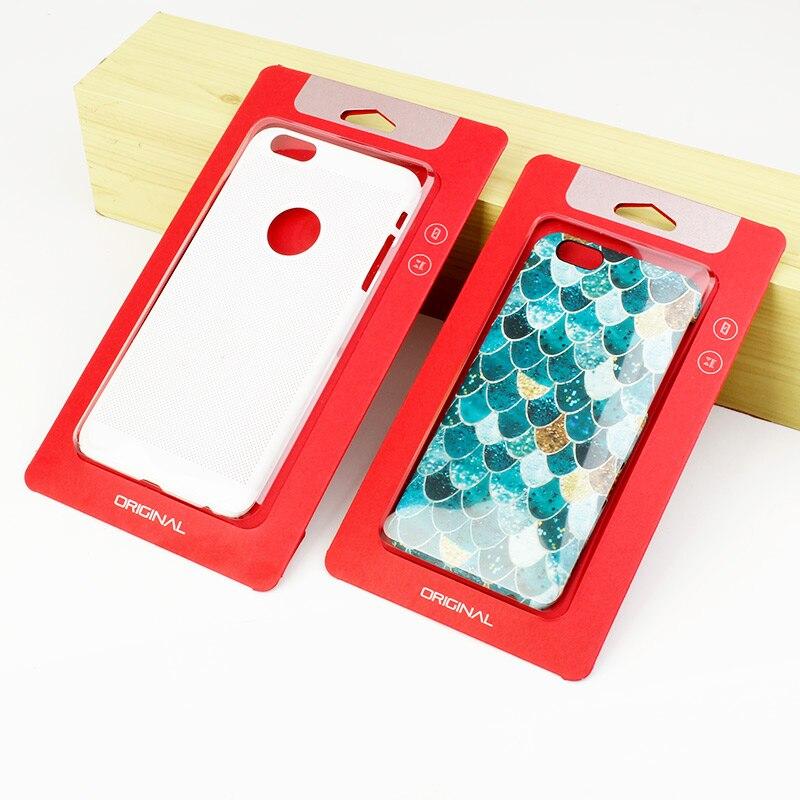 imágenes para 150 unids cajas de Papel caja de Embalaje de Plástico paquete Al Por Menor para el teléfono Universal case iphone 6s 7 7 plus para samsung galaxy s7 kj-601