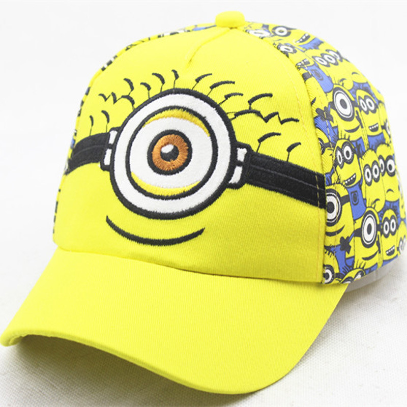 168dfb819d3 purple minion baseball hat toddler yellow despicable small people cap cute  cartoon bone .