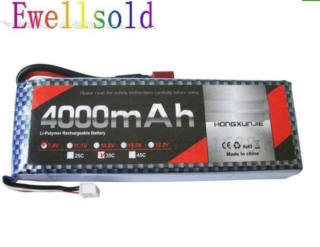 Ewellsold 35c 7.4v 4000mAh Li-polymer battery for RC car RC airplane RC quadcopter mos rc airplane lipo battery 3s 11 1v 5200mah 40c for quadrotor rc boat rc car