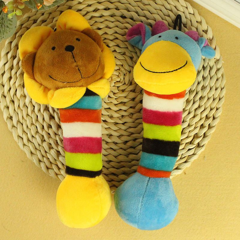 Dog Pet Puppy Plush Sound Dog Toys Bite Resistant Cute Animal Designs Chew Squeaker Toy For Small Dogs Pets Supplies DOGGZYSTYLE