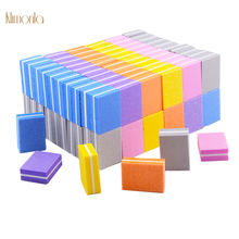 100pcs Nail File Sponge 100/180 Sandpaper Polishing Buffers Cuticle Remover Manicure Tools For Mini Art Files