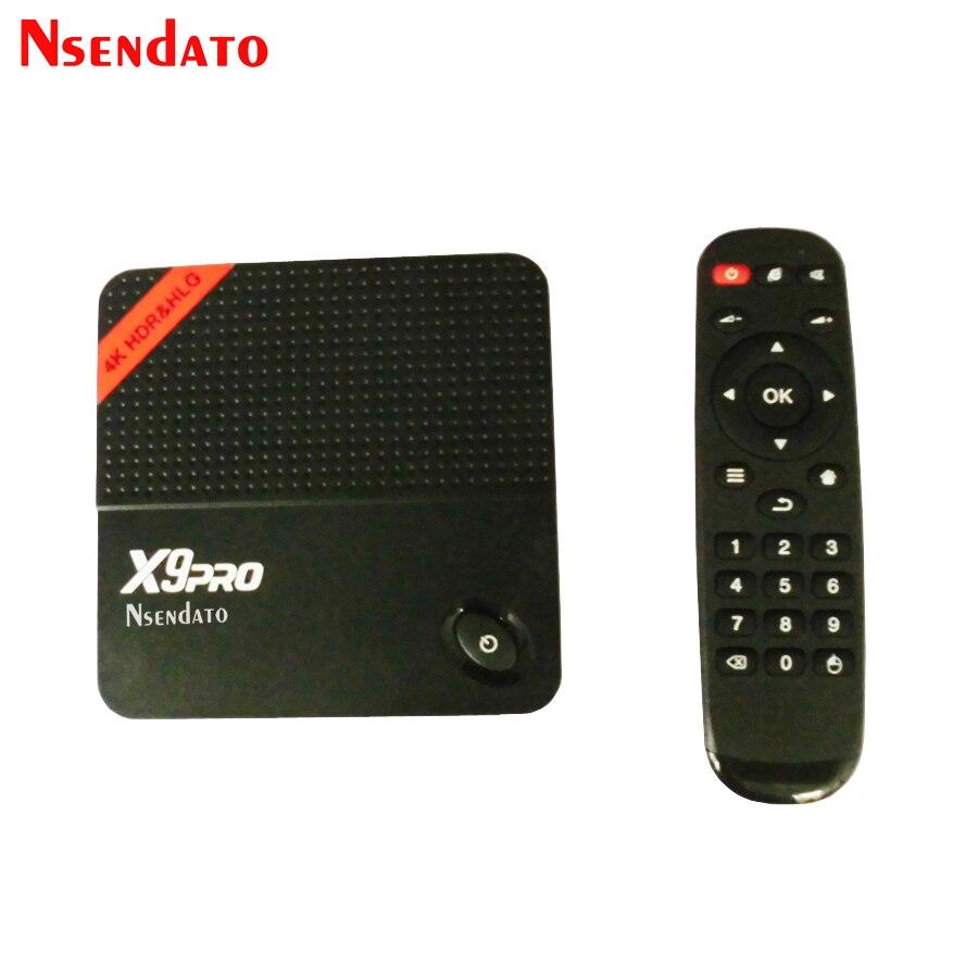 X9 PRO Amlogic S905X Android 6.0 TV décodeur 1 GB 8 GB Miracast Streaming Quad Core 4 K Smart TV boîte de lecture multimédia