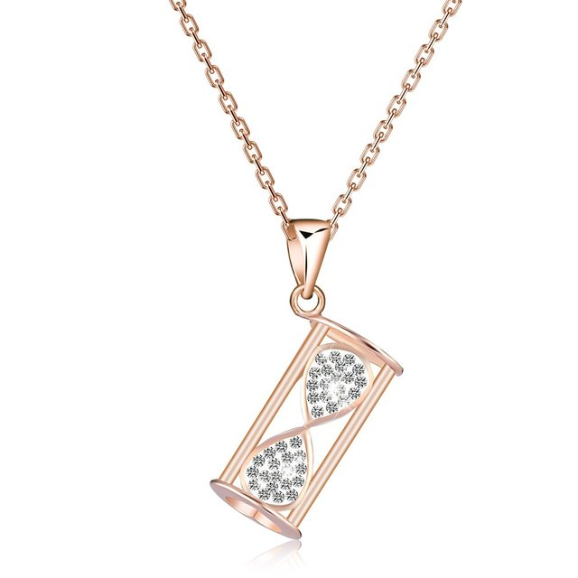 Hourglass pendant necklace jewelry elegant woman link chain necklace hourglass pendant necklace jewelry elegant woman link chain necklace girls daily ornaments 2018 new fashion mozeypictures Image collections