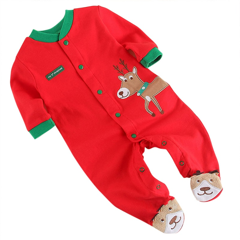 Autumn Baby Boys Girls Rompers Red Outfits Kids Cotton ...