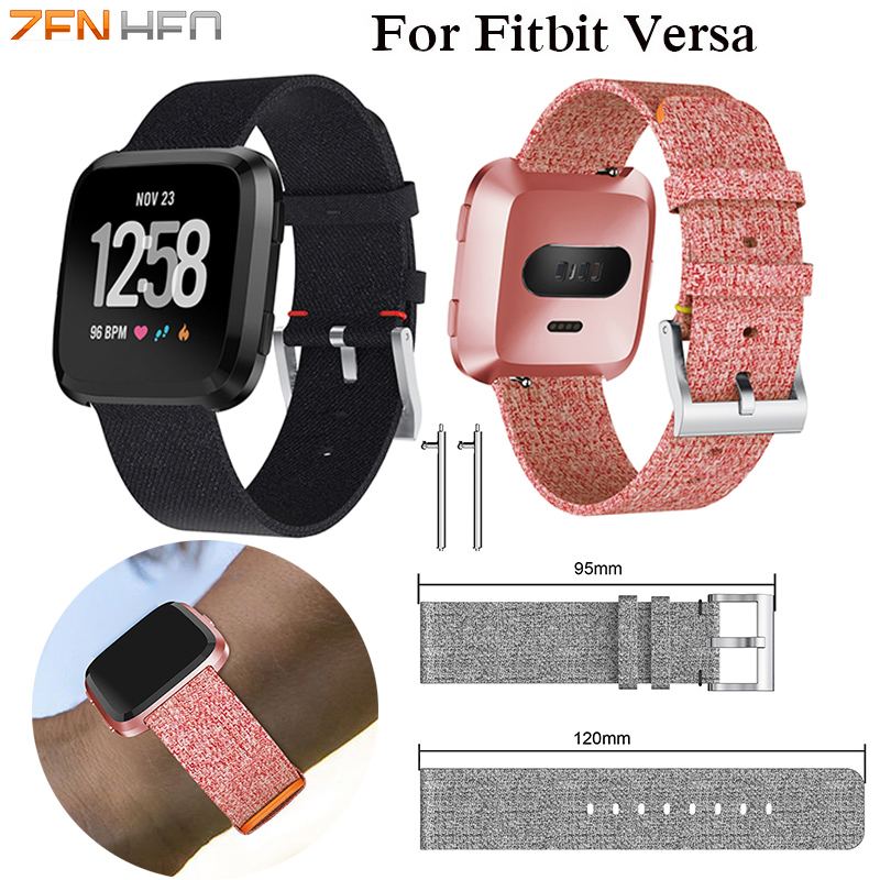 New Arrival For Fitbit Versa Wristband Wrist Strap Smart Watch Band Strap Soft Denim Watchband Replacement Smartwatch Band
