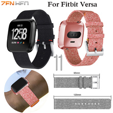 New Arrival For Fitbit Versa Wristband Wrist Strap Smart Watch Band Soft Denim Watchband Replacement Smartwatch