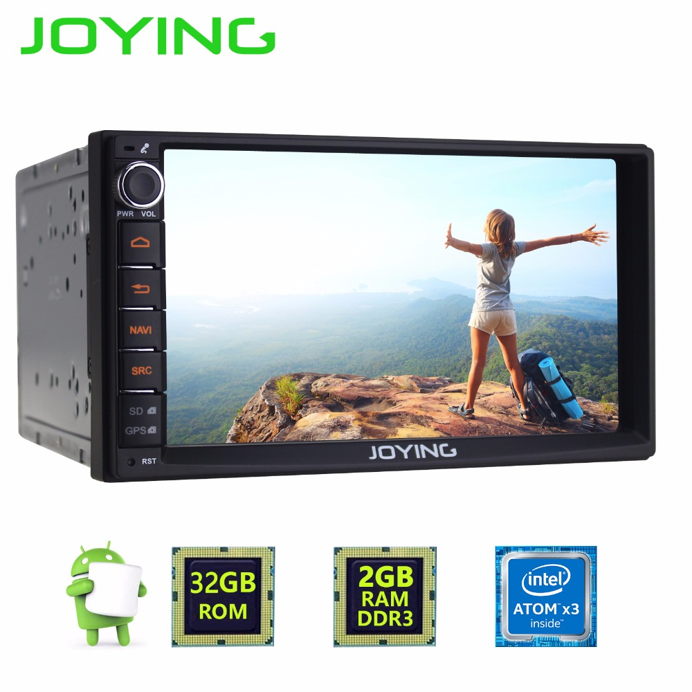 imágenes para Joying Universal Quad Core Doble Din Nuevo Android 6.0 Car Audio Estéreo GPS 2 GB + 32 GB Bluetooth Radio Reproductor Multimedia para automóviles