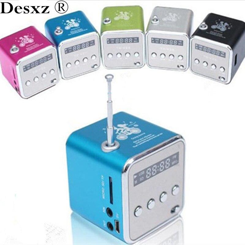 Desxz V26 Wireless Mini Portable Speaker Micro SD TF Speakers Music Player MP3 FM Radio USB