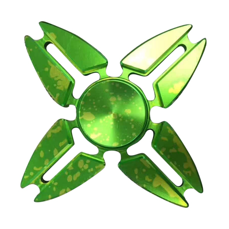 Специальные Дизайн Красочные Bling пальца Spinner четыре углу Spinner Для аутизма и СДВГ для детей и взрослых игрушка в подарок b0010 ...