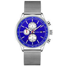 Readeel 2018 New Chronograph Quartz Watches Men Steel Mesh Military Gold Wrist Watches Quartz-Watch Clock Male Relogio Masculino megalith military sports watches men waterproof stainless steel quartz watches relogio masculino chronograph men s wrist watches