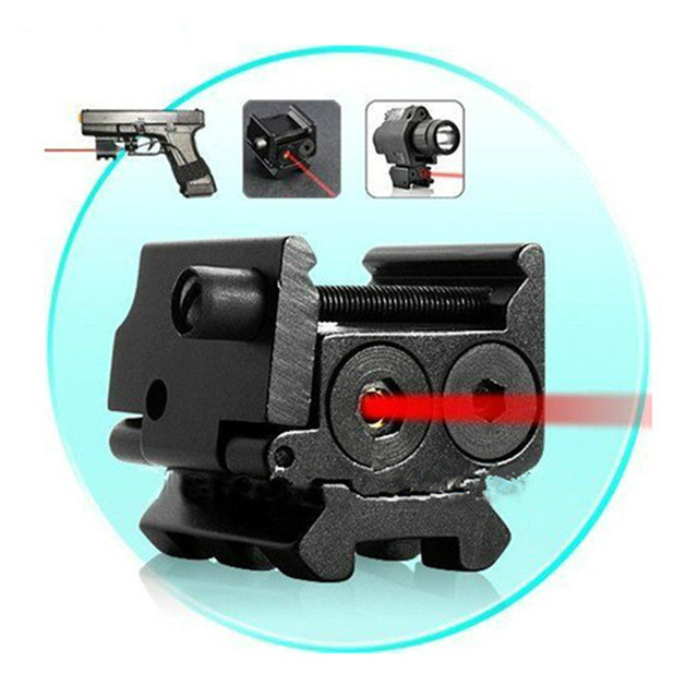 Hot Compact 650nm Red Laser Sight 20mm Rail Mount For 1911 M9 Glock 17,19,20,21,22,23,30,31,32 20