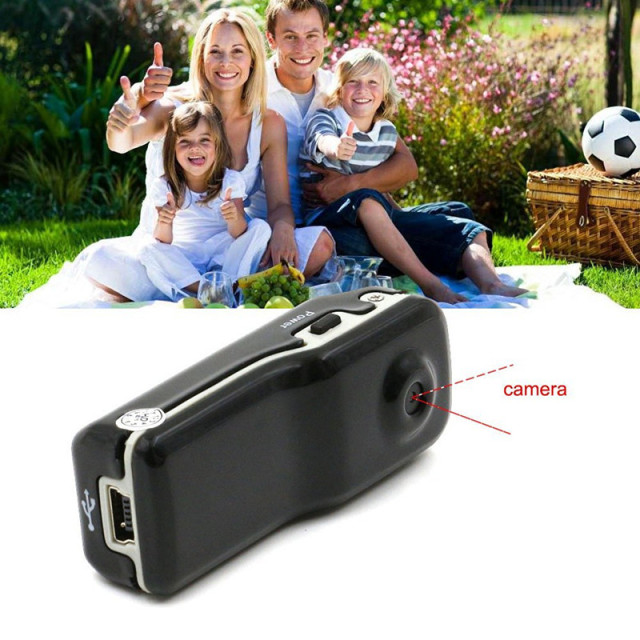 Professional Best Black DV Pocket Digital Webcam Recharge Video Record Monitor HD Camera Camcorder With 16GB Micro SD Card