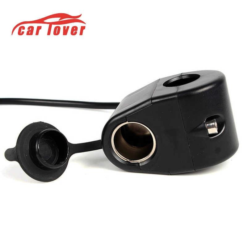 2018 Car Charger Motorcycle Plug Dual USB Adaptor+12V/24V Cigarette Lighter Socket Blue LED +Digital Voltmeter Mobile Phone