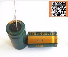 6 шт./лот 400 В 120 мкФ высокая частота низкое сопротивление 400v120uf алюминиевый электролитический конденсатор Размер 18*30