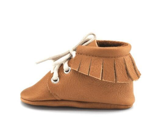New brown fringe genuine leather Baby Shoes Tassel high quality Baby boys First Walkers Fashion Shoes baby moccasins boots