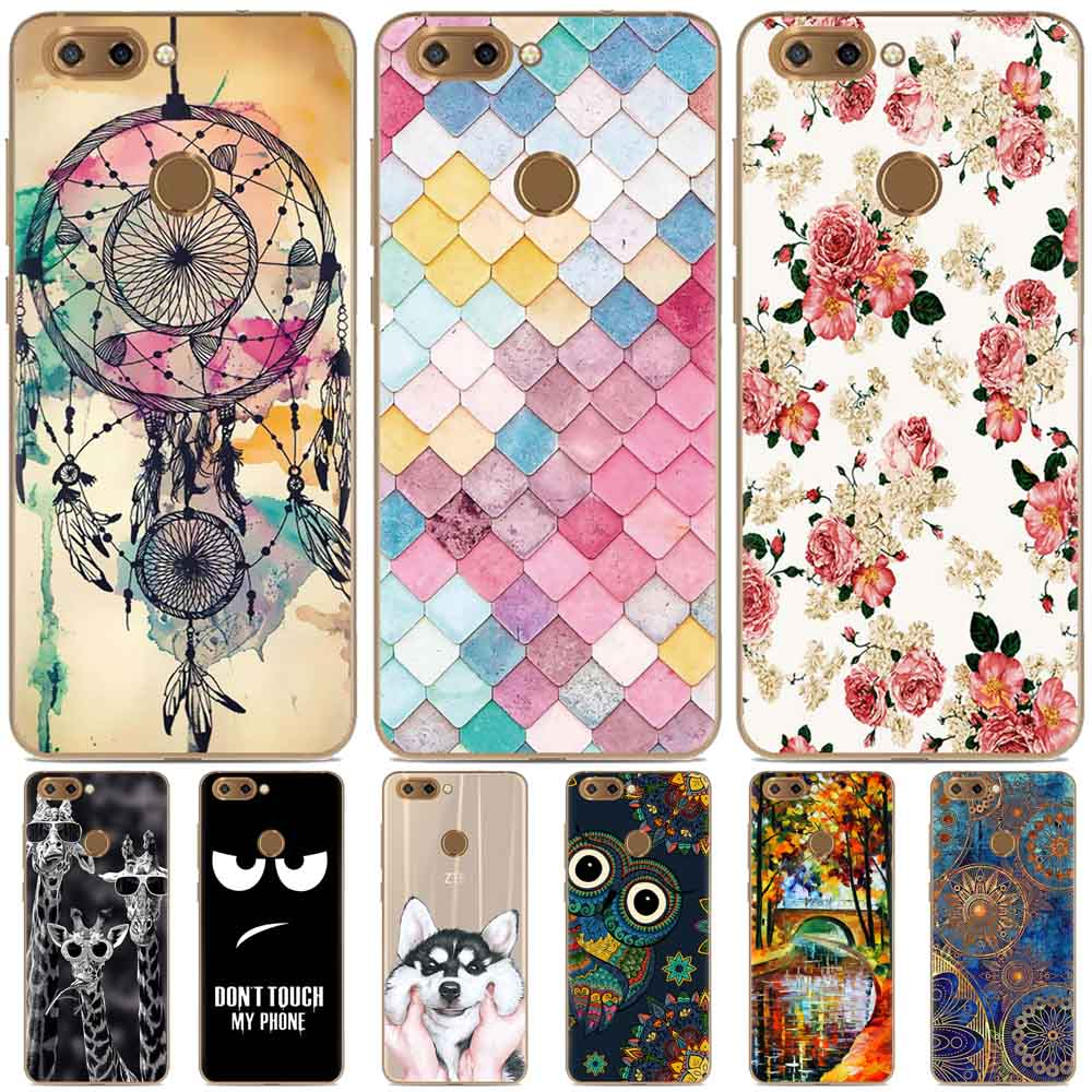 ZTE Blade V9 case silicone funda ZTE blade V9 cover soft TPU flower animal painted case for ZTE Blade V9 phone carcasa coque