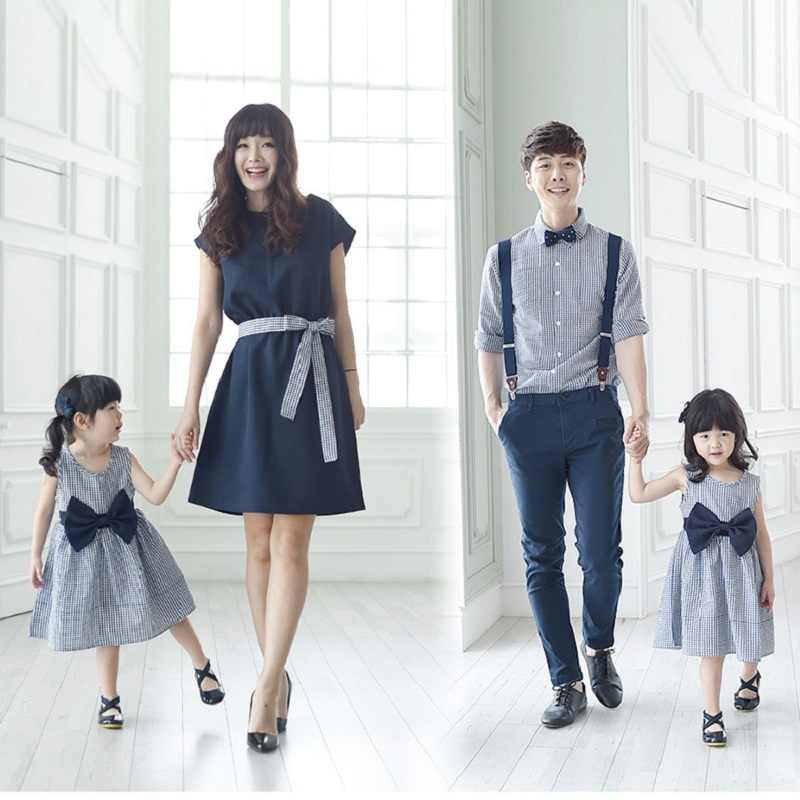 f6452eb80 Detail Feedback Questions about Mother Daugher Dresses Son Outfits Father  Daughter Dad and Son Matching Clothes Kids Summer Shirt Men Denim Overalls  Jeans ...