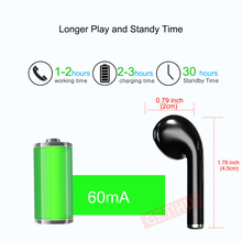 Bluetooth Earphone Headphones Phone Sport Headset in Ear Buds Wireless Mini Earphones Headphone Earpiece For iPhone 6 7 8 stereo