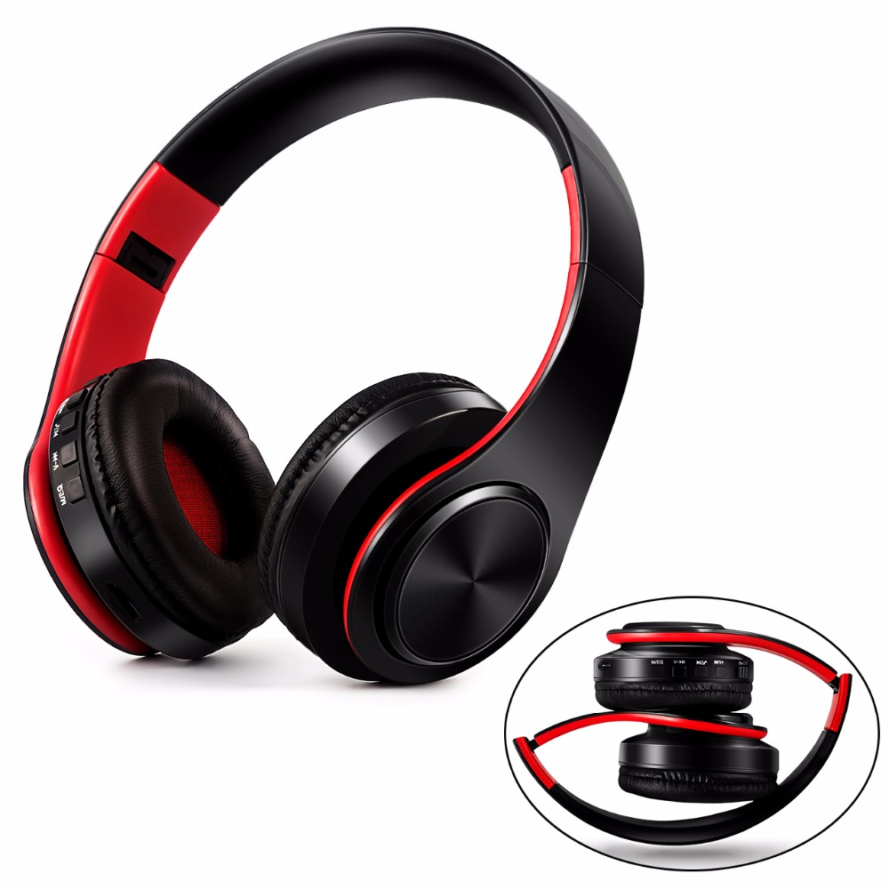 Foldable Wireless Bluetooth Headphones Headset Earphone MP3 stereo With Microphone For PC mobile phone music Support TF Card zealot b570 headset lcd foldable on ear wireless stereo bluetooth v4 0 headphones with fm radio tf card mp3 for smart phone