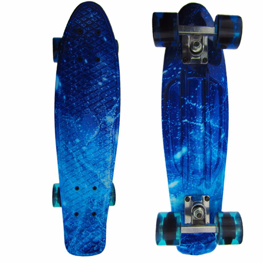 Newest Cruiser Peny Board 22 Inch For Kids Surf Long skateboard decks For Outdoor Sports ABS Ironing Retro For Children's Gifts 2016 new peny board skateboard complete retro girl boy cruiser mini longboard skate fish long board skate wheel pnny board 22