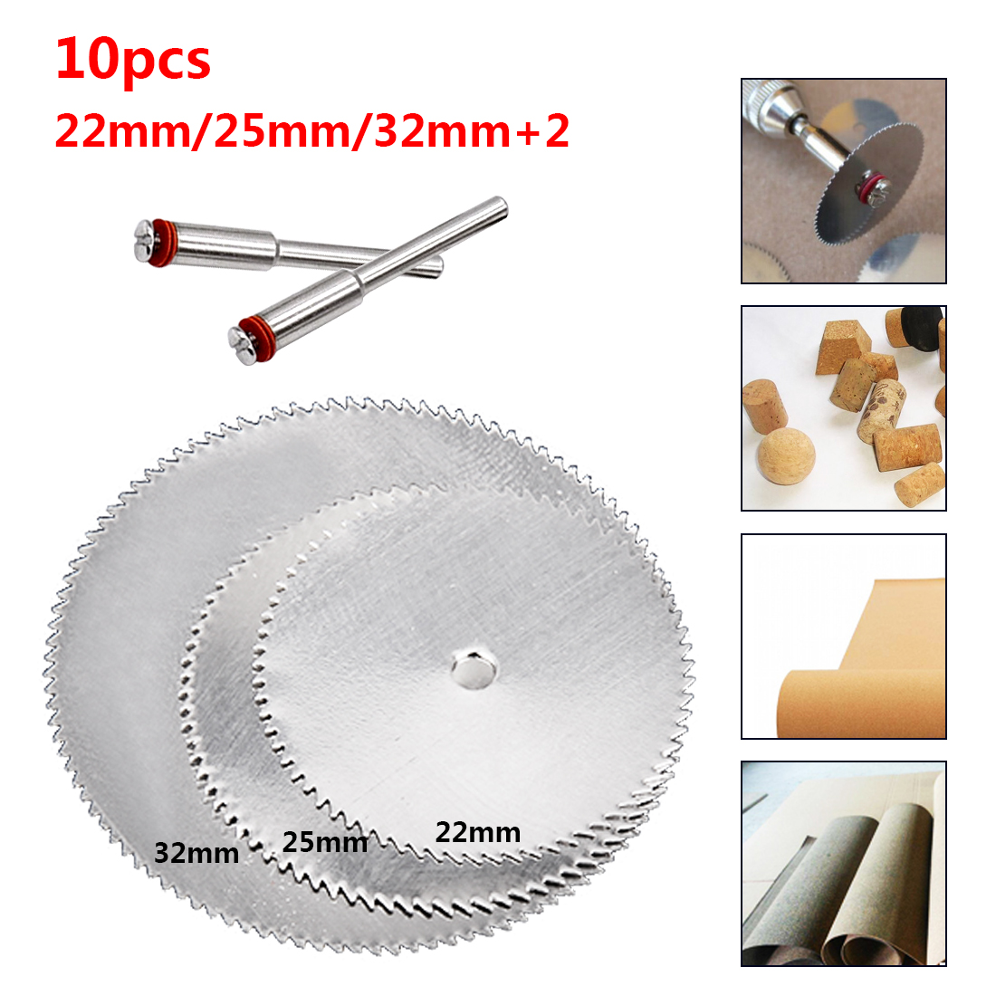 Saw Blade For Tools Dremel Rotary Tool Cutting Discs Dremel 10Pcs 22 25 32mm Power Tool Electric Drill Accessories