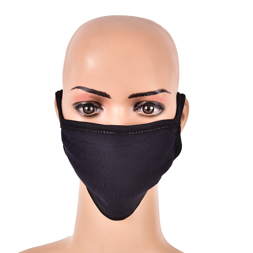 PM2.5 Anti Haze Mask Anti-Dust Face Mouth Mask Nose Filter Windproof Face Muffle Bacteria Flu Fabric Cloth Respirator Black
