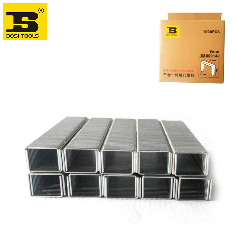 Free Shipping BOSI 1000pc/pack Standard Chisel Point Staples 8/25inch/8mm leg long ...