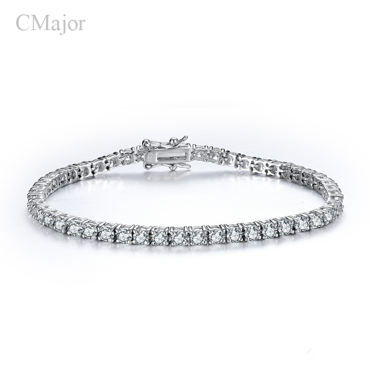 Sterling silver jewelry  925 stamp classic tennis bracelet prong setting cubic zirconia bracelets for women gifts Sterling silver jewelry  925 stamp classic tennis bracelet prong setting cubic zirconia bracelets for women gifts