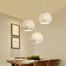 Creative LED E27 kitchen dining & bar Pendant Lights Coffee Shop Bar Iron Pendant Lamps Simple Globe Bedroom Decoration Fixtures