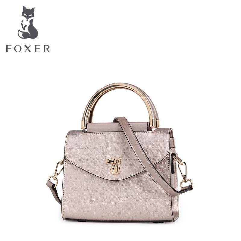 ФОТО FOXER women messenger bags luxury leather handbag small wristlets designer flap shoulder bag fashion tote crossbody for lady