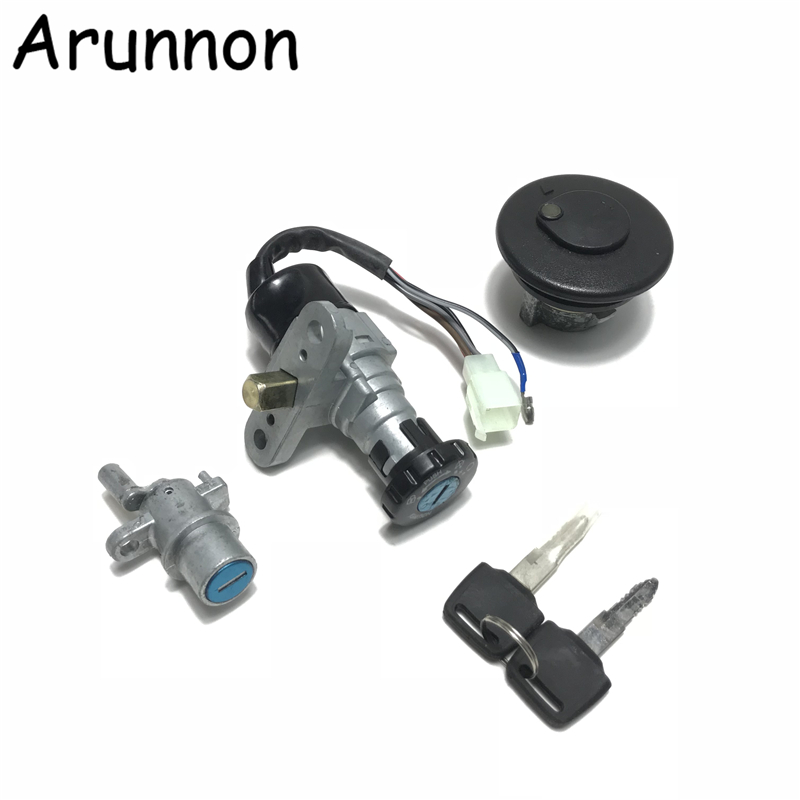 Motorcycle Scooter Lock Ignition Key Switch Set Seat Lock Key Kit For Yamaha 3YK JOG ZR 3KJ 5BM JOG 50