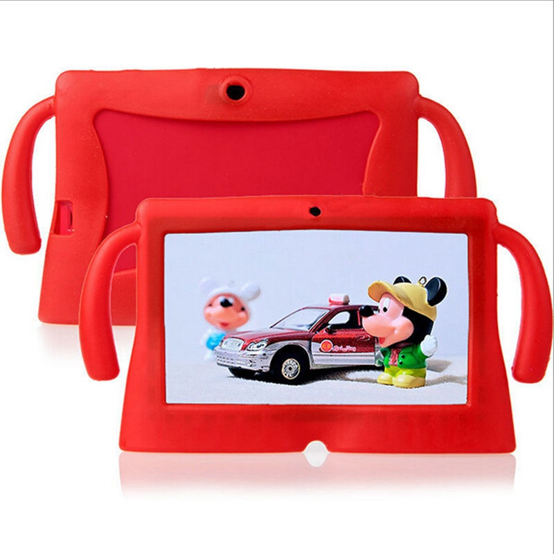 все цены на Soft Silicone Gel Cover Case for Q88 Universal for 7 Inch Cute E-Books Protective Case Cover New Tablet 7 Case For Kids Children