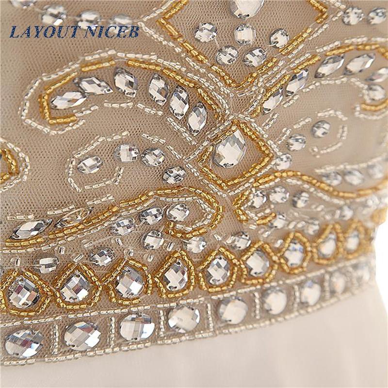 Sjajan vještački dijamant kuglice večernje haljine Scoop vratu - Haljina za posebne prigode - Foto 6