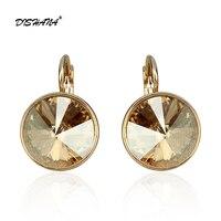 Новые женские серьги с камнями элегантные золотые-100% Австрийские Серьги с кристаллами jewelry Серьги (E0098)