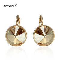 Dishana New women dangle earring with stones elegant Gold-Color 100% Austrian crystals earring jewelry Drop Earrings E0098