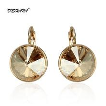New women dangle earring  with stones elegant Gold- 100% Austrian crystals earring jewelry Drop Earrings(E0098)