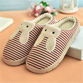 New Brand 2017 Hot Women Lovely Bunny Rabbit Home Floor Soft Velvet Indoor Slippers Shoes Couples Slippers