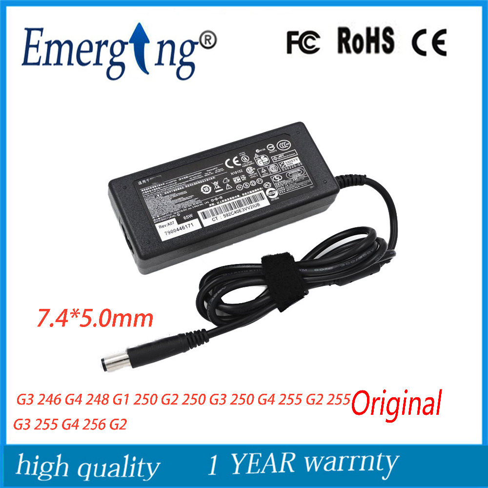 Original 19.5V 3.33A 65W AC 7.4mm*5.0mm Laptop Adapter Charger For <font><b>HP</b></font> EliteBook 810 <font><b>G1</b></font> 810 G2 820 <font><b>G1</b></font> 820 G2 840 <font><b>G1</b></font> 840 G2 <font><b>850</b></font> image