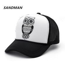 b97974e9262ec Wholesale Adult Fashion Unisex Classic Trucker Owl Baseball Cap Mesh Cap  Snapback Hat Vintage Women Men