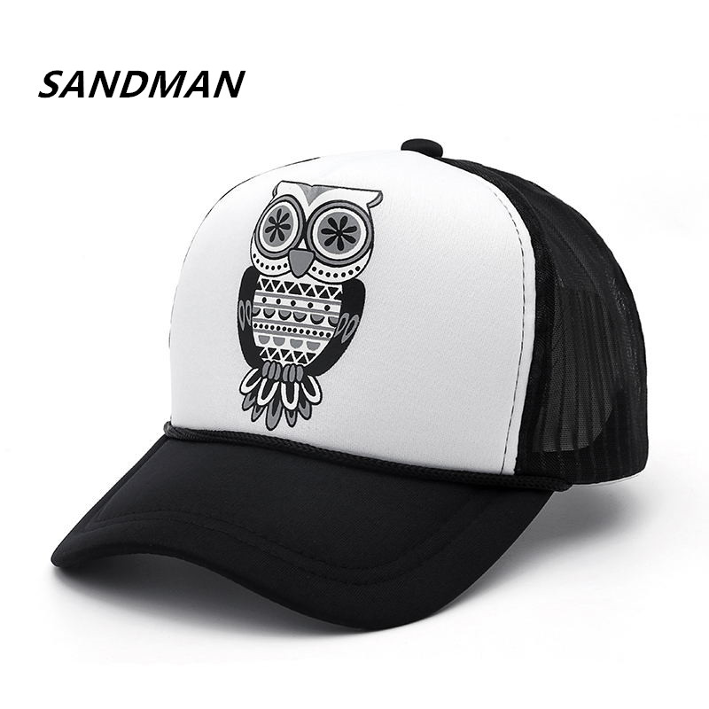 Wholesale Adult Fashion Unisex Classic Trucker Owl   Baseball     Cap   Mesh   Cap   Snapback Hat Vintage Women Men Gorras Hip Hop Hat