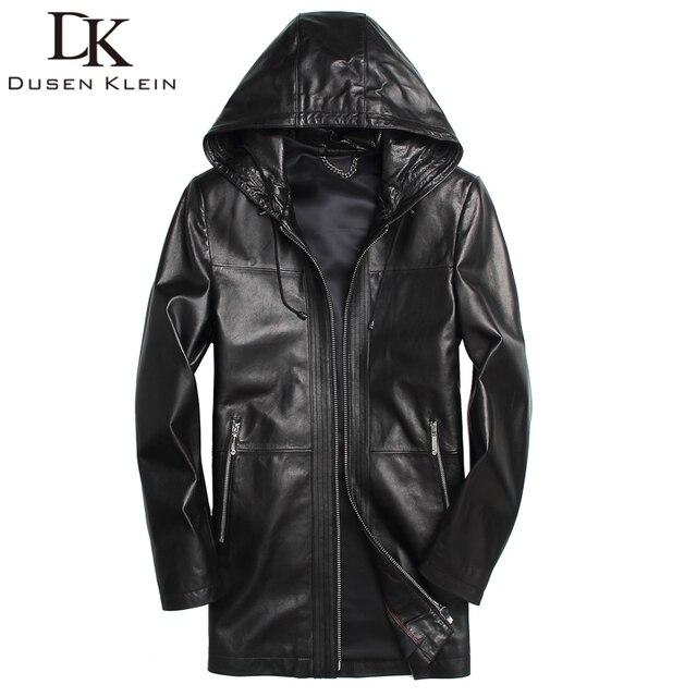1bfd85f5703 New 2017 men jackets genuine sheepskin hooded motorcycle coats short Slim  Designer outwear 61L1682
