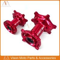 Мотоцикл Передние и задние колеса концентраторы Rim для Honda CR125 CR250 CRF250X 2000 2014 CRF250R 2004 2013 CRF450R CRF450X 2002 2011 2012