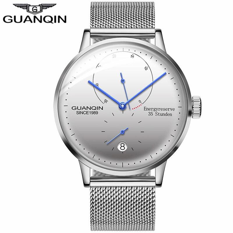 GUANQIN Hommes Montres Automatique Mécanique Energyreserve 35 Stunden Horloge Casual Mode de Saphir Étanche hommes Montres