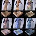 Pocket Square Classic Party Wedding Paisley Floral 2.17''Men Neckties  Woven Silk Wedding Tie Handkerchief Set #M4