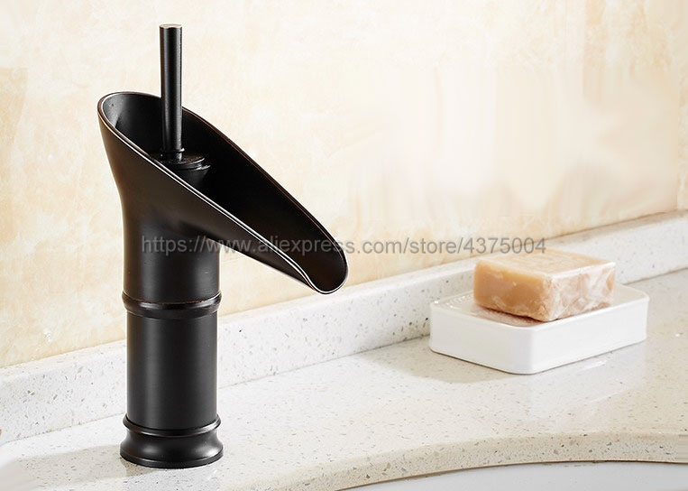 Black Oil Rubbed Brass Bathroom Basin Faucet Hot Cold Mixer Tap Single Handle Basin Tap Mixer Tap Nnf094Black Oil Rubbed Brass Bathroom Basin Faucet Hot Cold Mixer Tap Single Handle Basin Tap Mixer Tap Nnf094