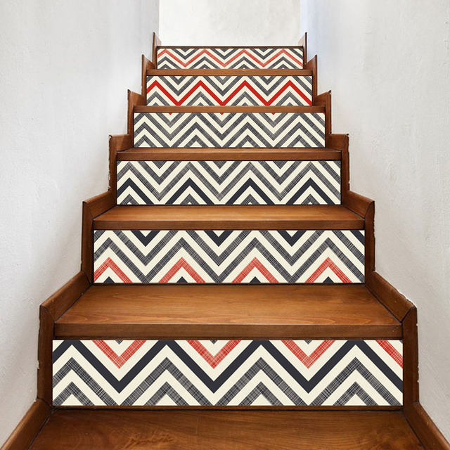 Modern Home Decoration Self adhesive 3D Stairs Stickers Decoration Attic Art Stickers Home Decor Vintage Poster