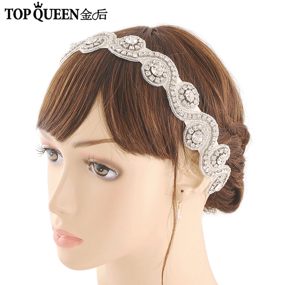 TOPQUEEN H10 Bridal Headbands Wedding Hair Accessories With Rhinestones And Crystal Bridal Headpieces Stock Fast Shipping