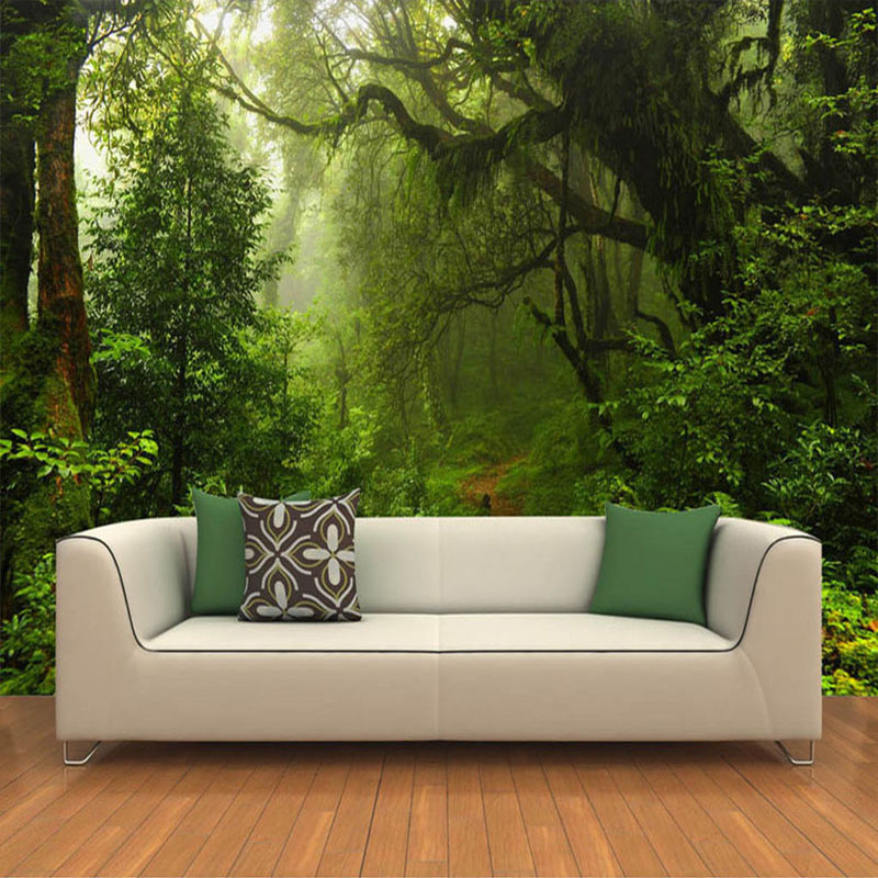 Large Custom Mural Wallpaper For Walls 3D Primeval Forest Modern Living Room Sofa TV Background Wall Photo Wallpaper Home Decor 3d stereoscopic wall wallpaper for walls 3 d living room tv background vinyl wallpaper roll mural 3d home decor pvc marble top