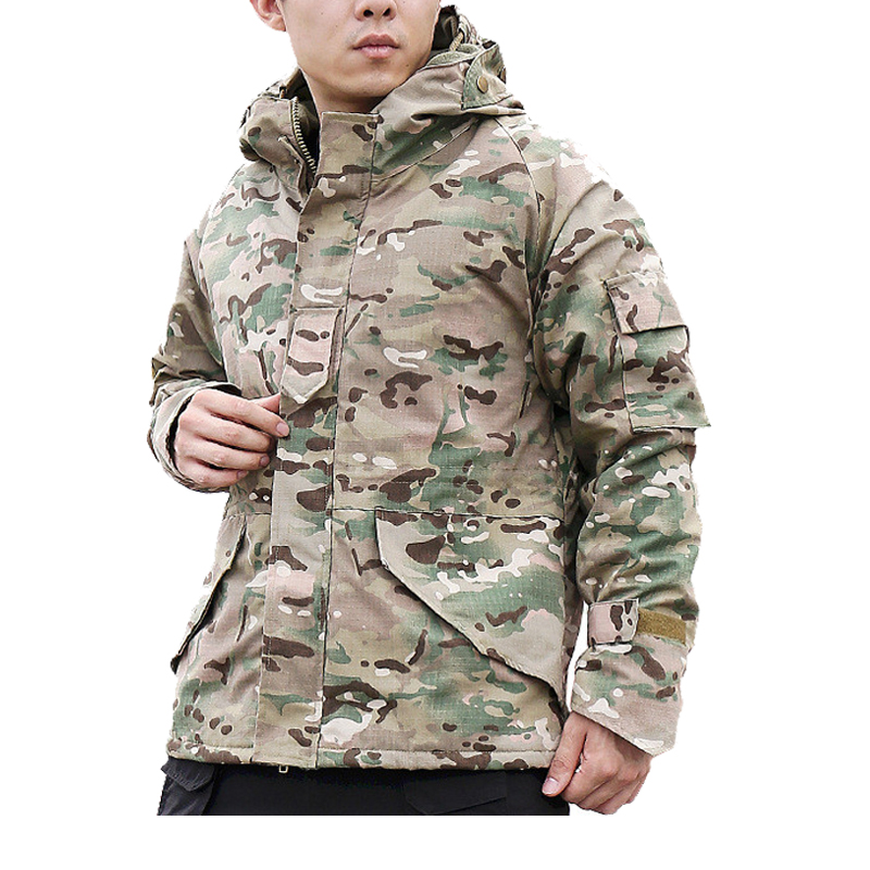 Men's Winter Military Tactical Jacket Camouflage Thermal Thick Coat Liner Parka Hooded Bomber Army Jacket Waterproof Windbreaker