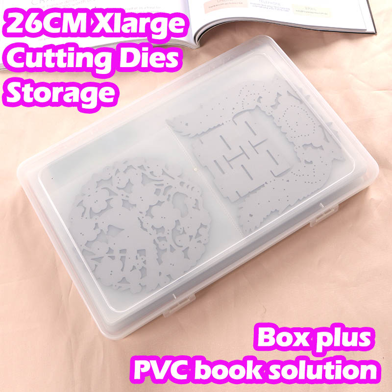 DUOFEN 26CM XLarge Cutting dies storage book BOX PLUS PVC book easy for handling & protecting your cutting dies